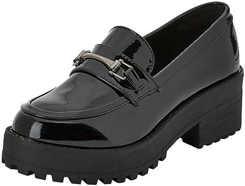 COOLWAY Estocolmo, Mocasines para Mujer, Negro (Abk), 36 EU: Amazon.es: Zapatos y complementos