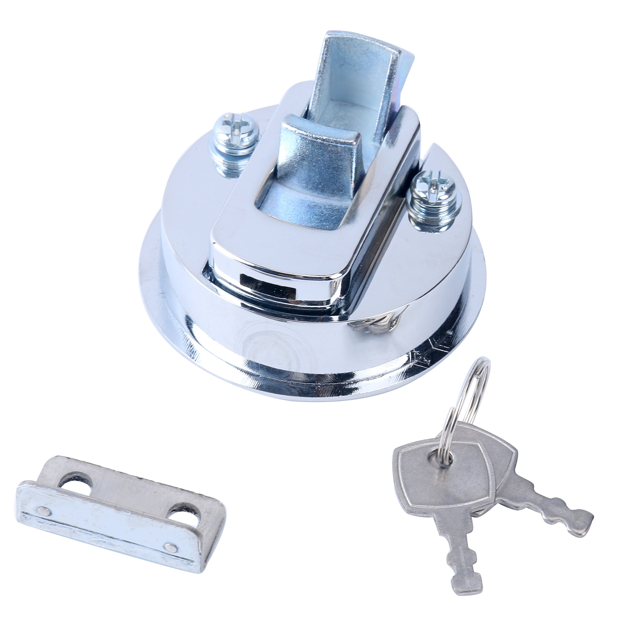 Chrome 2/'/' Flush Pull Slam Latch for Boat Deck Hatch 1//4/'/' Door Locking US