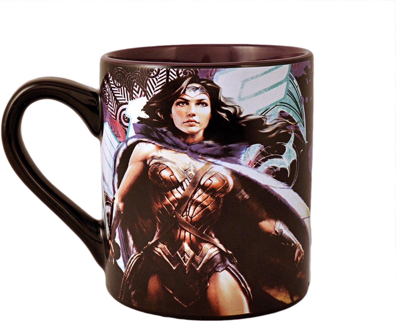 Silver Buffalo WW0595 DC Comics Wonder Woman Logo 3D Sculpted Ceramic Mug 20-Ounces
