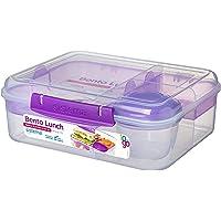 """Lunchbox """"Bento"""" von Sistema - zum Mitnehmen mit Frucht/Joghurt-Becher, 1,65l"""