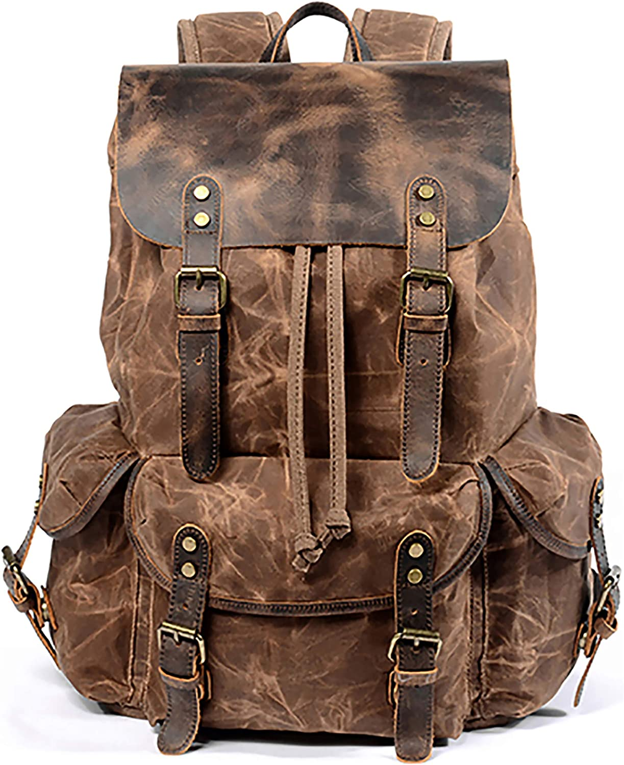 Dubhe Tan Backpack Crossbody leather bag Leather Backpack