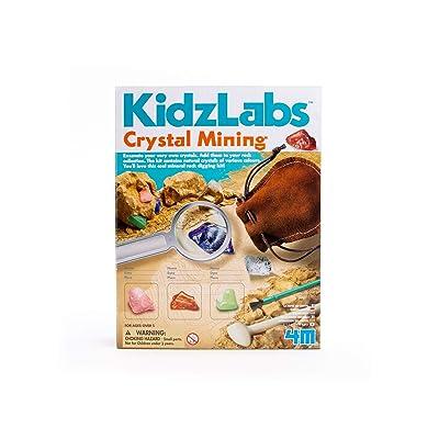 4M Kidzlabs Crystal Mining Kit - DIY Geology Science Dig Excavate Gemstones Minerals - STEM Toys Gift for Kids & Teens, Boys & Girls, Model:3564: Toys & Games
