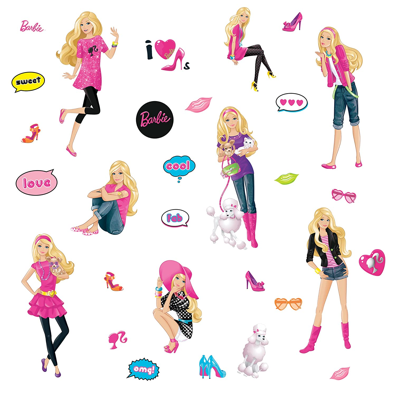 Amazon Co Jp バービー Barbie ジャンボアクセントステッカーnew