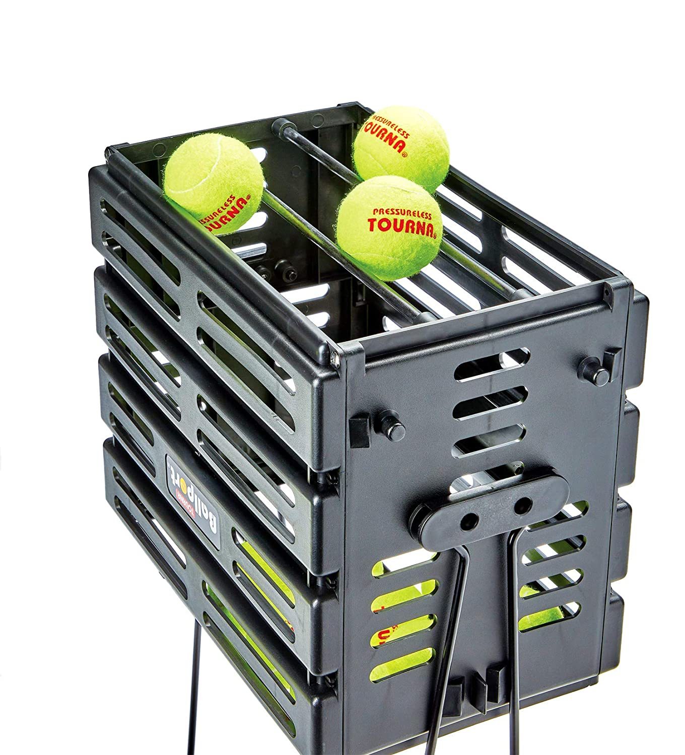 Tourna Ballport Tennis Ball Hopper Holds 80 Balls Durable and Lightweight