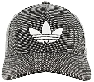b961adce adidas Men's Originals Trefoil Plus Precurve Structured Cap, Black Dot Knit/ White, One