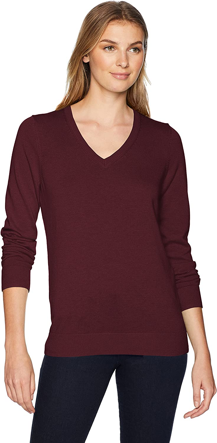 Amazon Essentials Women's Classic Fit Lightweight Long-Sleeve V-Neck Sweater