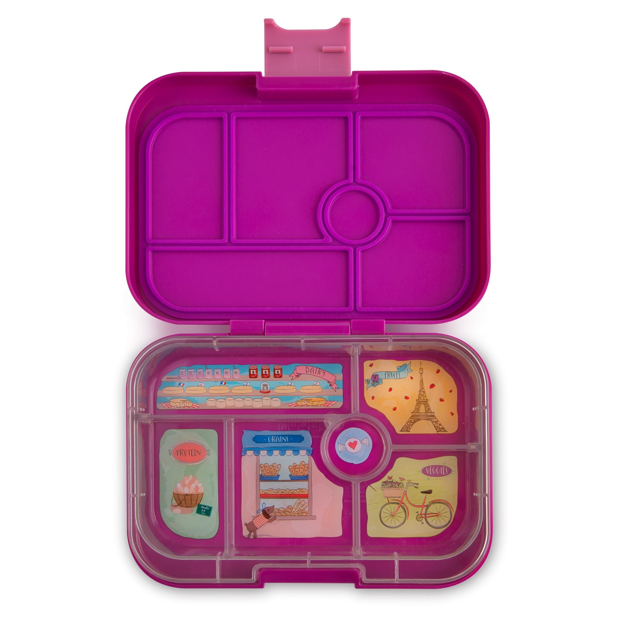 YUMBOX Leakproof Bento Lunch Box Container (Bijoux Purple) for Kids; Bento-style lunch box offers Durable, Leak-proof, On-the-go Meal and Snack Packing