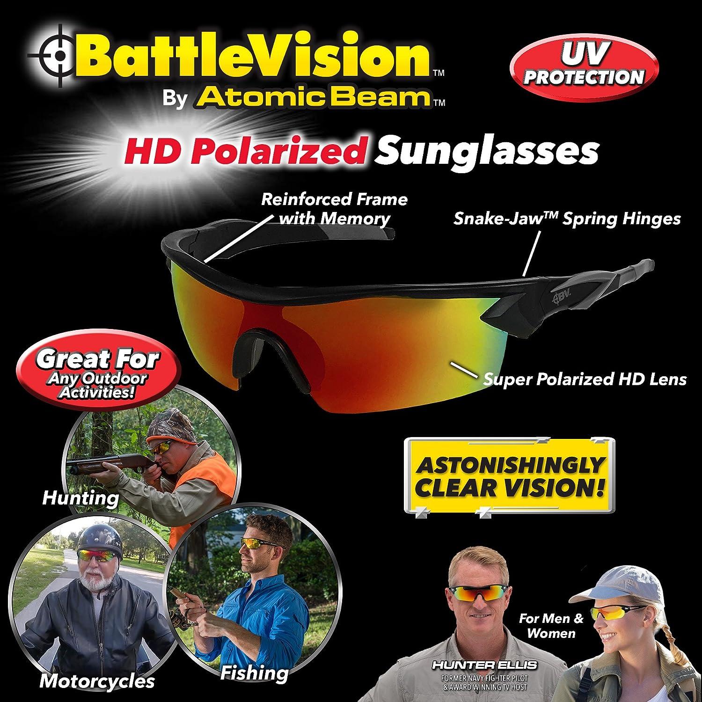 Amazon.com  Battle Vision HD Polarized Sunglasses by Atomic Beam 1aa8a783c54