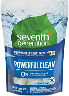 product image for Seventh Generation Natural Dishwasher Detergent Packs, Free and Clear, 20ct, Packaging May Vary