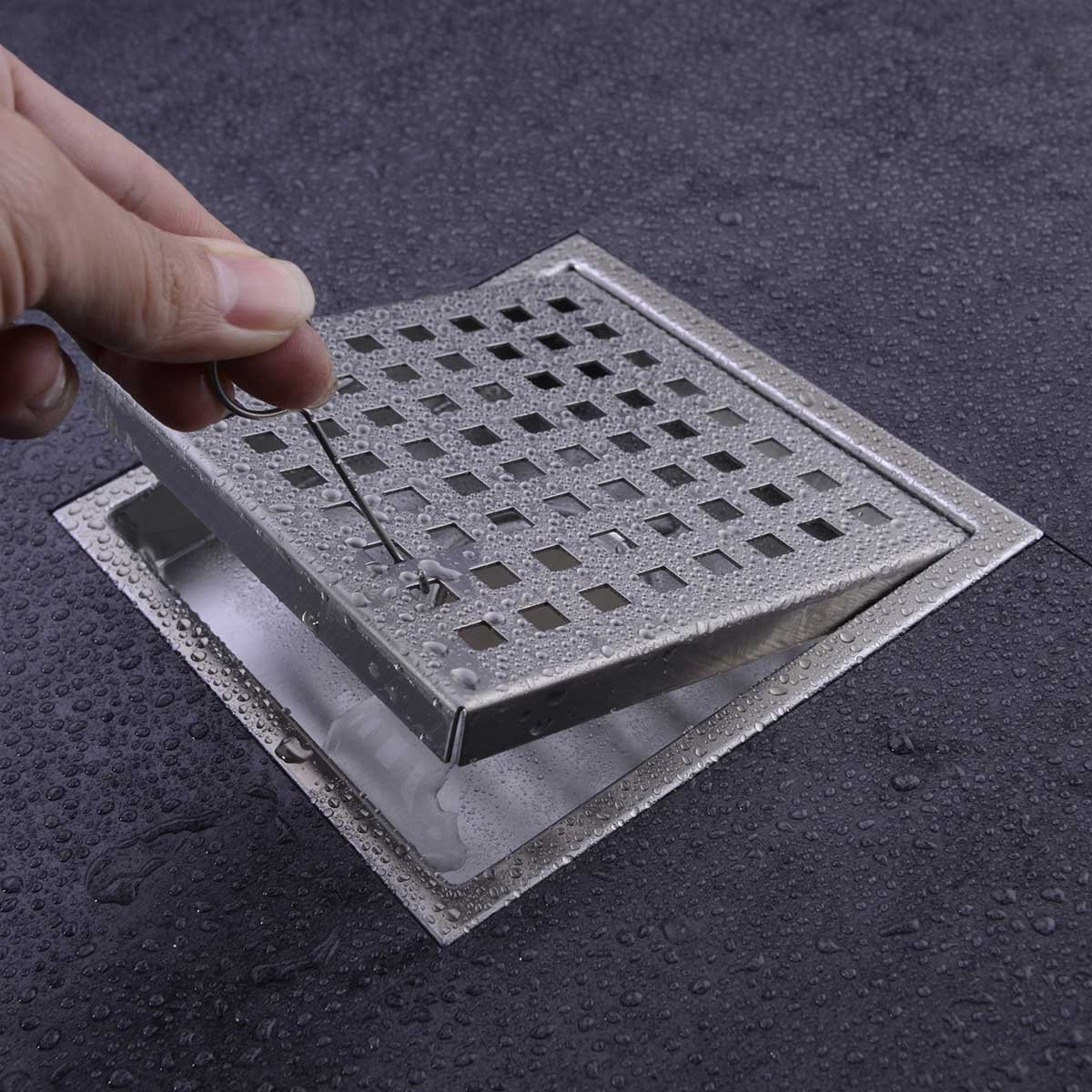 HANEBATH 6 Inch Square Shower Floor Drain With Removal Grate   Made Of  Sus304 Stainless Steel By Hane: Amazon.ca: Tools U0026 Home Improvement