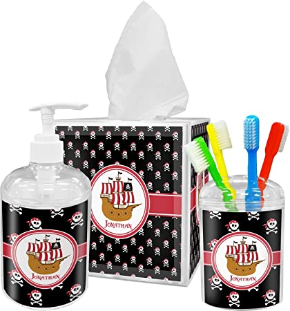 Merveilleux RNK Shops Pirate Bathroom Accessories Set (Personalized)