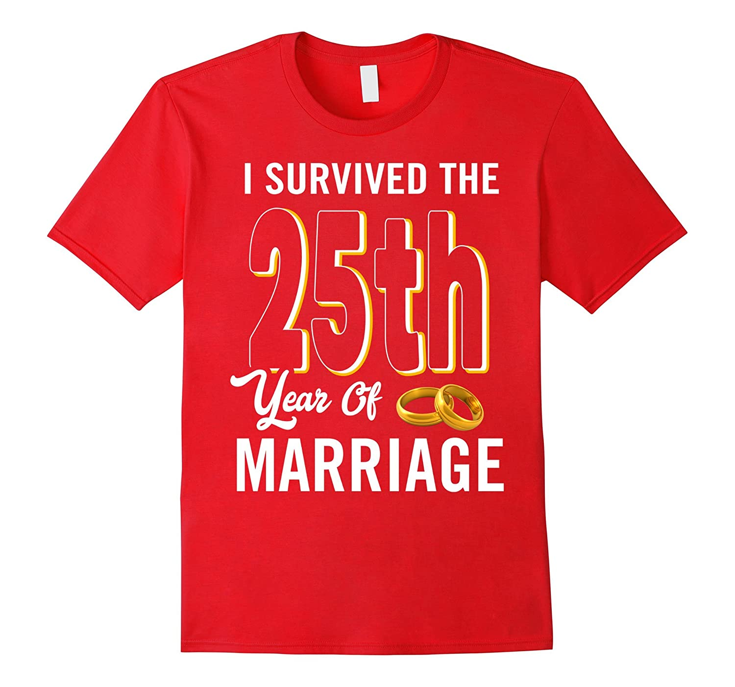 25th Anniversary Shirt I Survived The 25th Year Of Marriage