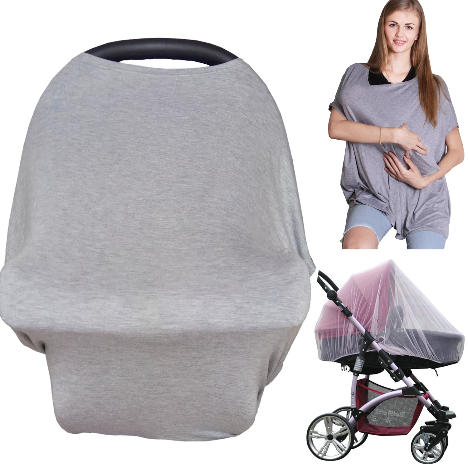 Baby Car Seat Cover Nursing Cover –Breastfeeding Cover, Baby Car seat Canopy for Girls and Boys USA FINE QUALITY