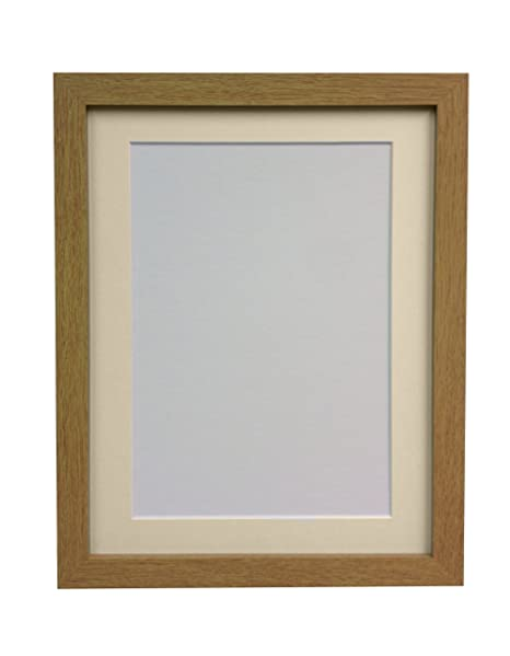 Frames By Post H7 Picture Photo Frame Wood Oak With Ivory Mount