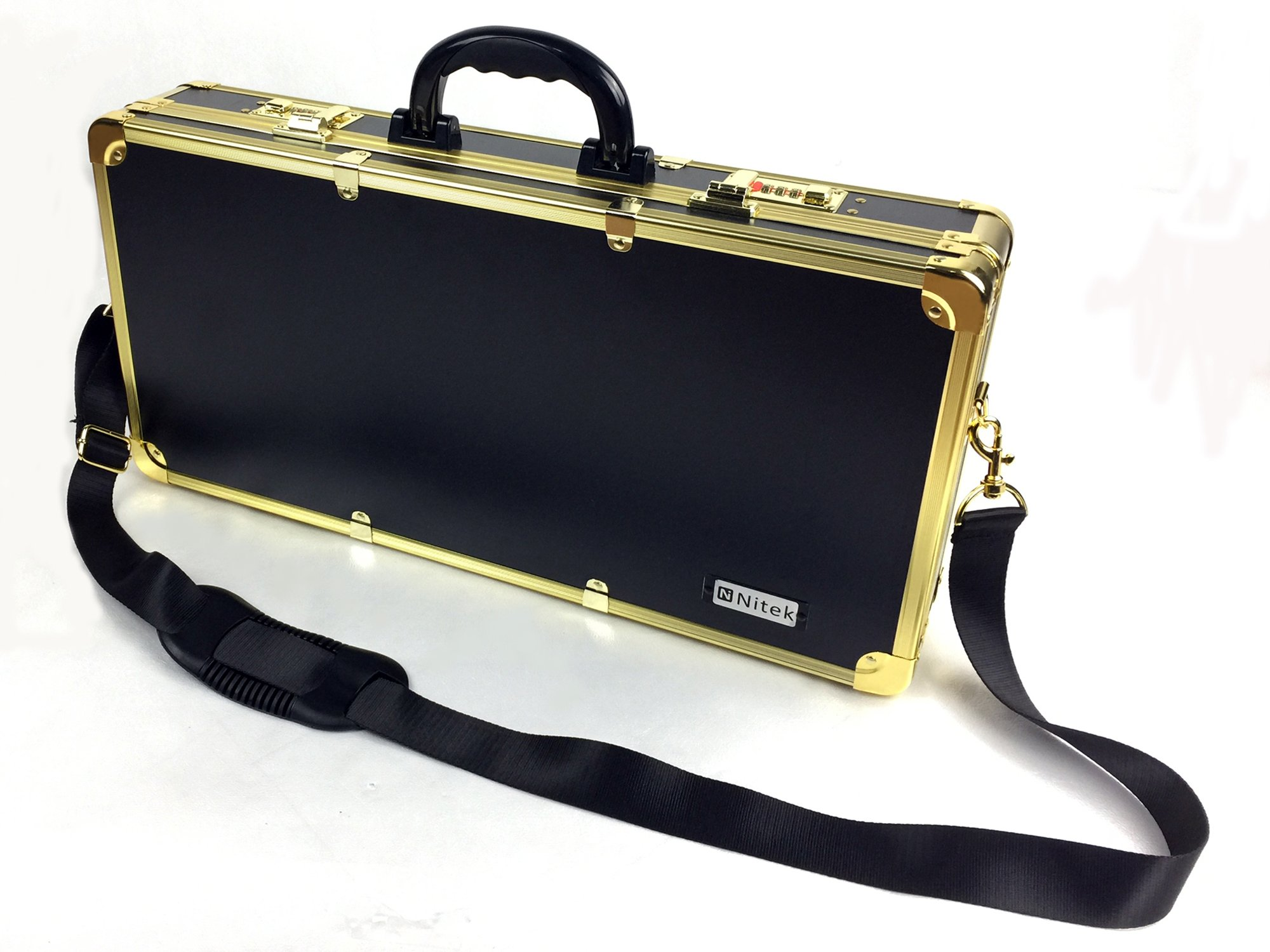 Barber box L22 xW3.9 xH10.6 inches golden color