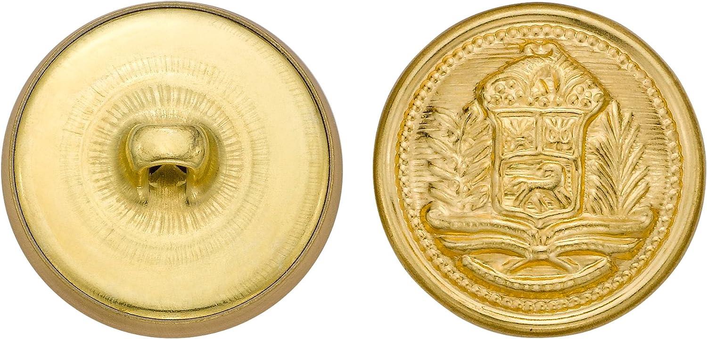 36-Pack Size 36 Ligne C/&C Metal Products 5271 Crest Metal Button Gold