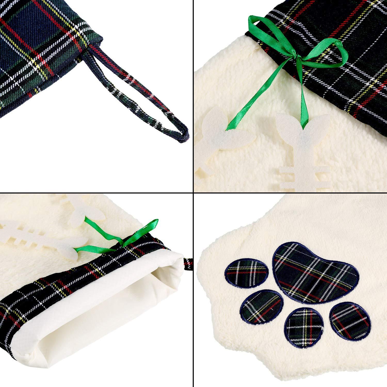 ghdonat.com Green Jetec 2 Pieces Christmas Stockings Pet Paw ...