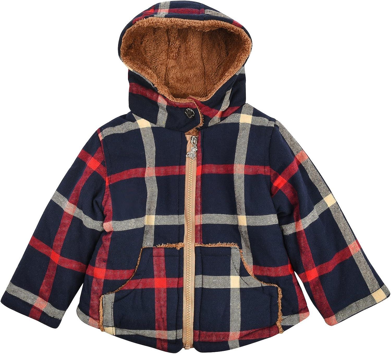 Maygold Toddler Baby Boys Winter Fleece Jackets Coats Hooded for Kids Full Zip Bear Outerwear