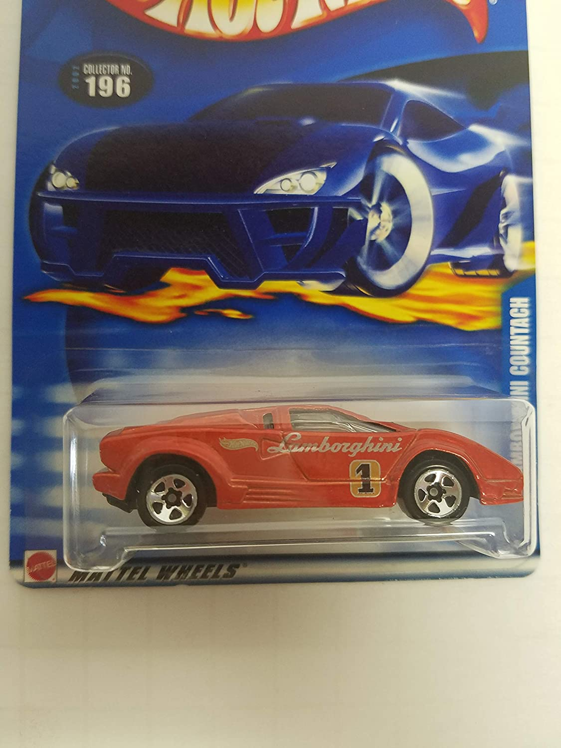 Lambourghini Countach Hot Wheels 2002 diecast 1/64 scale car No. 196