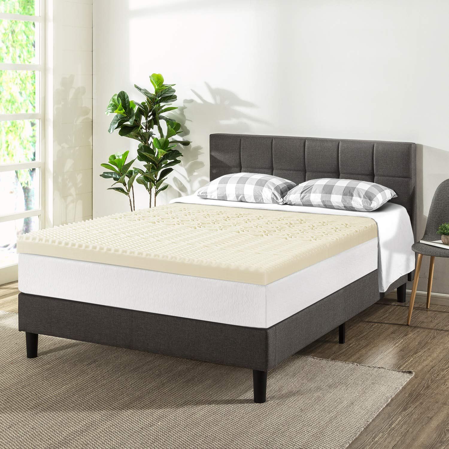 Best Price Mattress Twin 3 Inch 5-Zone Memory Foam Bed Topper with Copper Infused
