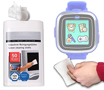Duragadget Lingettes nettoyantes pour montre connectée Vtech Kidizoom Smart Watch et Smart Watch Plus - 155705