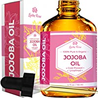 Jojoba Oil by Leven Rose, Pure Cold Pressed Natural Unrefined Moisturizer for Skin...