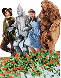 """Paper House Productions 3.5"""" x 2.75"""" Wizard of Oz Die-Cut Poppy Fields Shaped Magnet for Refrigerators and Lockers"""