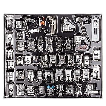Juego de prensatelas para máquina de coser doméstica, CBTONE, 48 piezas, accesorios de