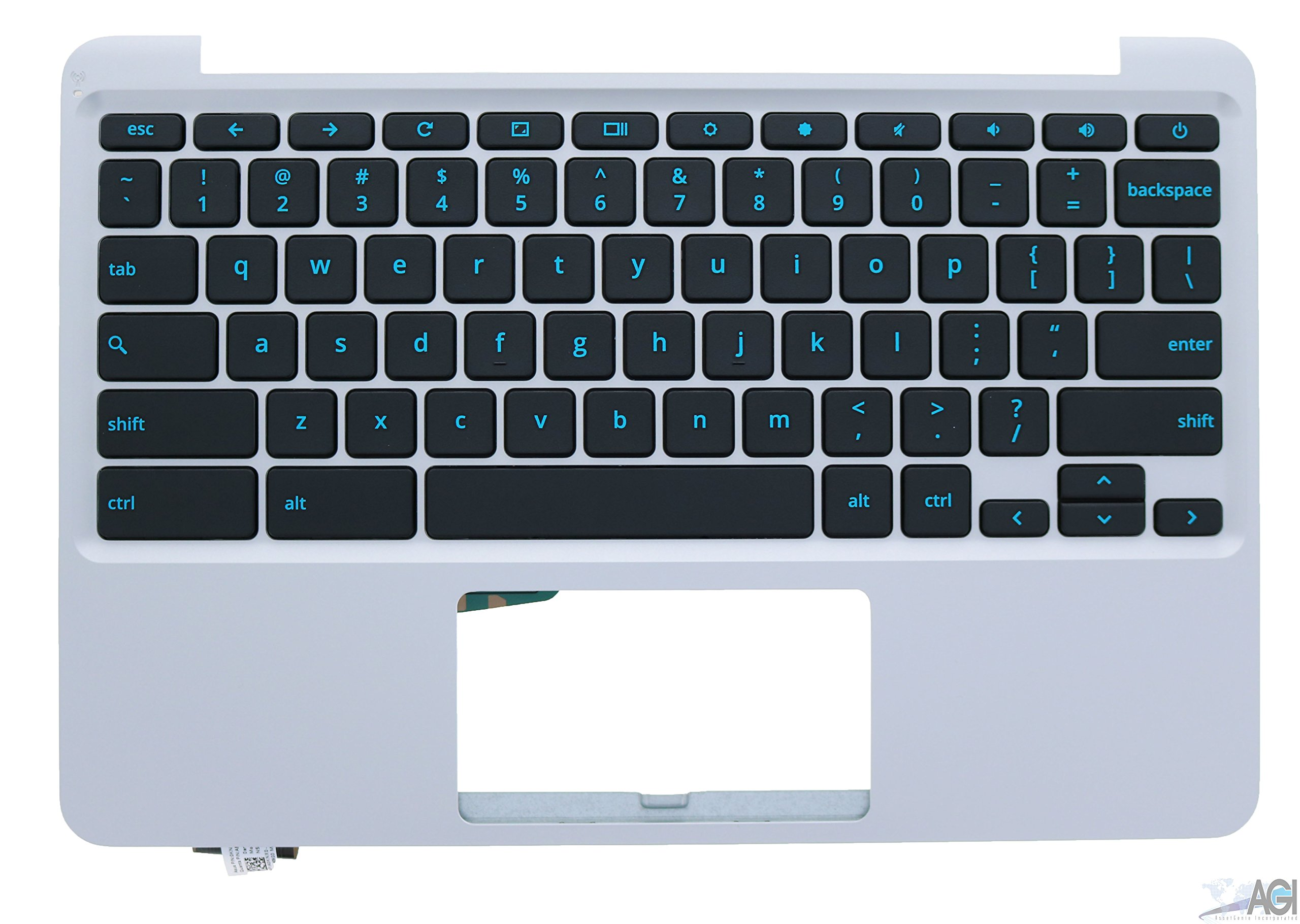 Plastic Palmrest w/Keyboard 90NX00Y1-R30120 Compatible with Asus C202SA Chromebook