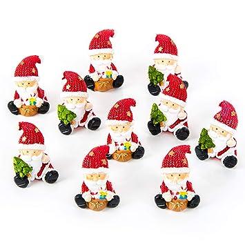 Werbeartikel Weihnachten.20 Kleine Mini Weihnachtsmann Rot Grün Weiß Nikolaus Santa Claus 3 5 Cm Miniatur Figur Give Away Kunden Geschenk Werbeartikel Weihnachten