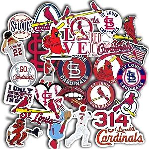 """St Louis Cardinal Sticker Set of 31 Decal 2"""" St Louis Cardinal Decal"""