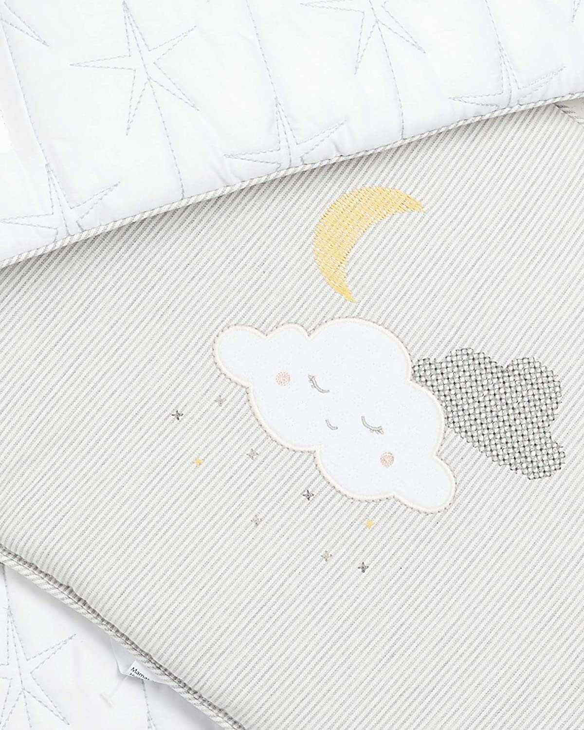 Mamas and Papas Bumper for Cot Bed Essential Grey