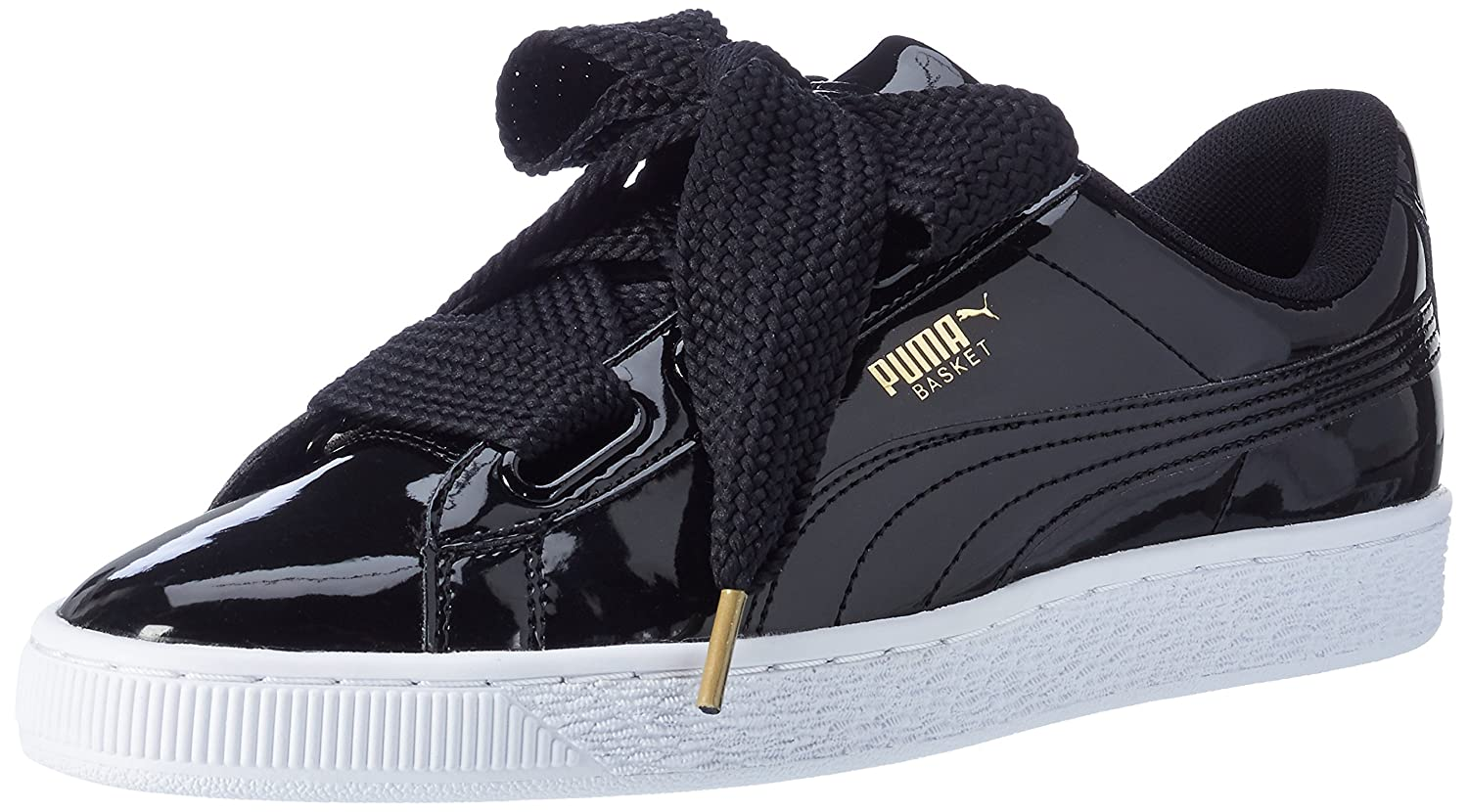 Amazon.com | PUMA Women's Basket Heart Patent WN's Low-Top Sneakers ...