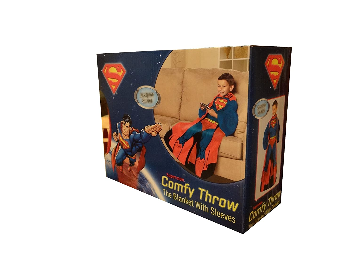 Amazon.com  Superman Comfy Throw with Sleeves  Home   Kitchen 2298226ea