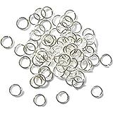 Lot de 300 anneaux ouverts en argent pour création de bijoux 6 mm