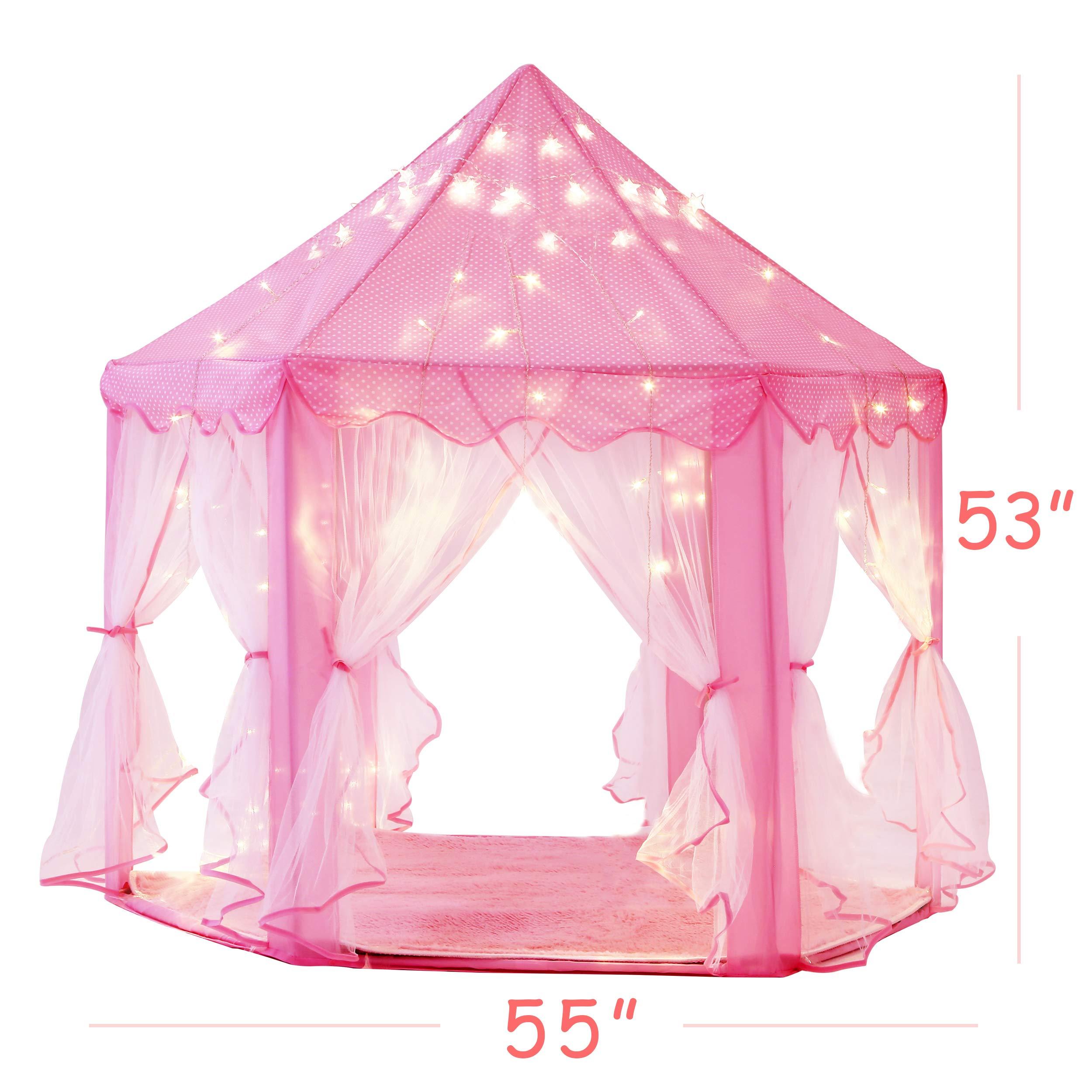 intency pink princess castle kids play tent large children. Black Bedroom Furniture Sets. Home Design Ideas