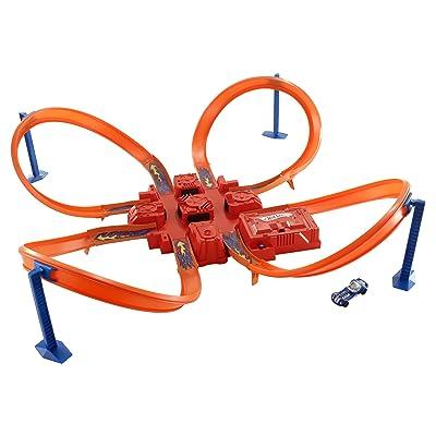Hot Wheels Criss Cross Crash Track Set: Toys & Games