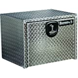 Buyers Products Diamond Tread Aluminum Underbody Truck Box w/T-Handle Compression Latch (14x12x16 Inch)