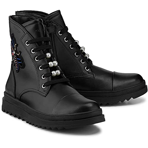 Geox Girls  J Gillyjaw a Combat Boots  Amazon.co.uk  Shoes   Bags 45d9b6e03fd1