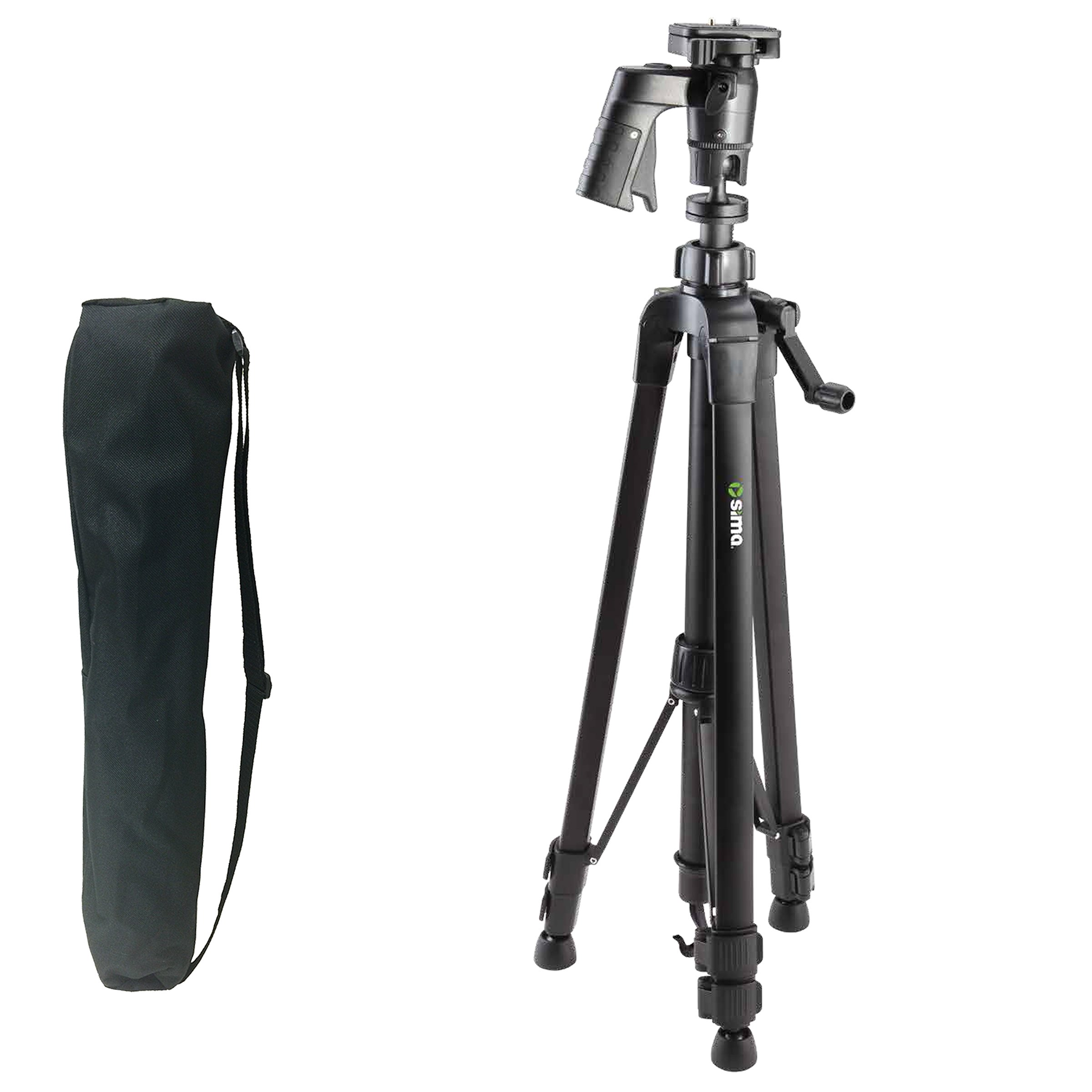 Sima STV-61PG 61'' Pro Panorama Ball Head Tripod with Pistol Grip INCLUDES Zippered Carry Bag with Carry Strap