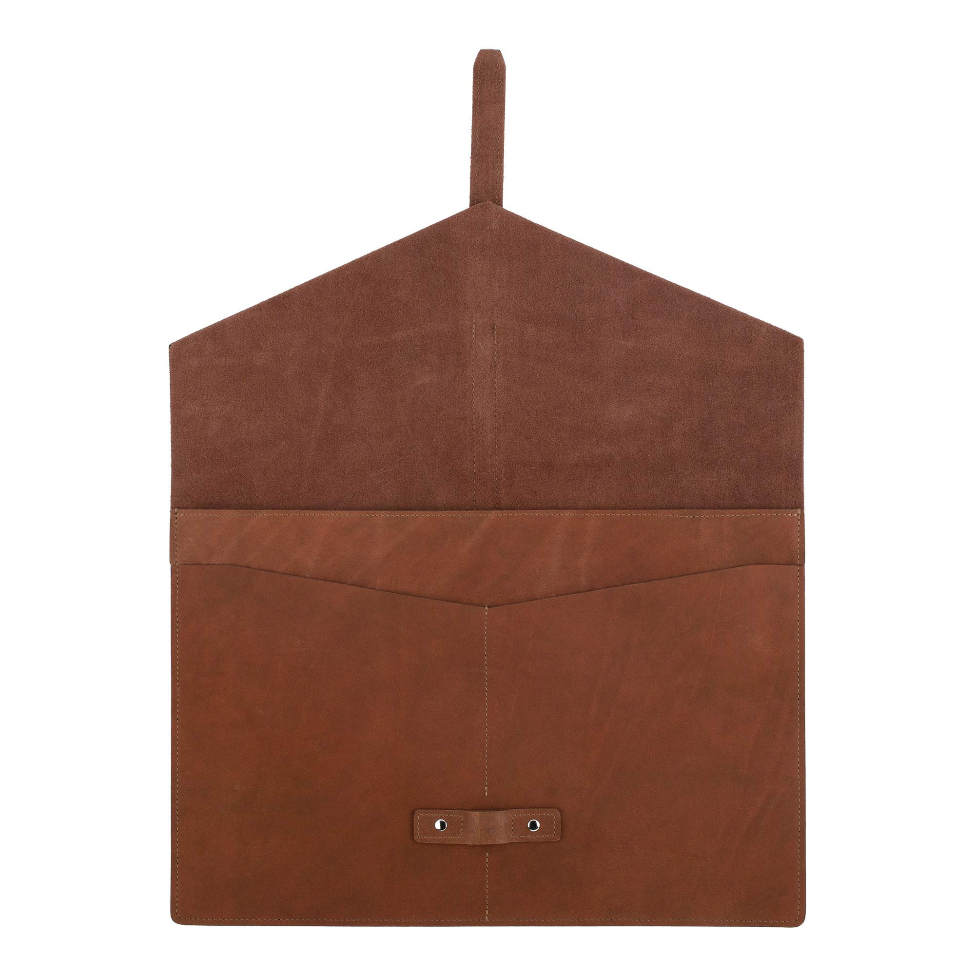 SLATE COLLECTION Belltown Small Laptop Sleeve, Full-Grain Leather (Cognac, fits 13'' Laptop) by SLATE COLLECTION (Image #5)
