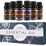 Essential Oils Set(6 x 10 mL),Therapeutic Grade Aromatherapy Essential Oil Gift,Highest Quality 100% Pure Natural,6 Different Fragrance Flavor of Lavender,Tea Tree, Peppermint, Lemon Grass,Sweet Orange, Rose, Perfect Gift for Baby Women