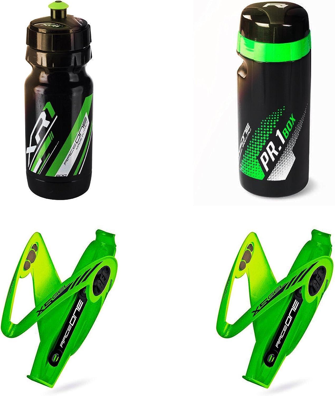RO 2/X 3R O raceone 100/% Acabado de Goma Color Naranja fl/úor IT PAR portabid/ón X3/Rubberized Puerta Botella para Bicicleta para Bicicleta Race Cristal//Senderismo Bike