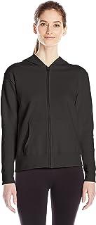 Hanes Women's Full Zip Hood, Ebony, Large