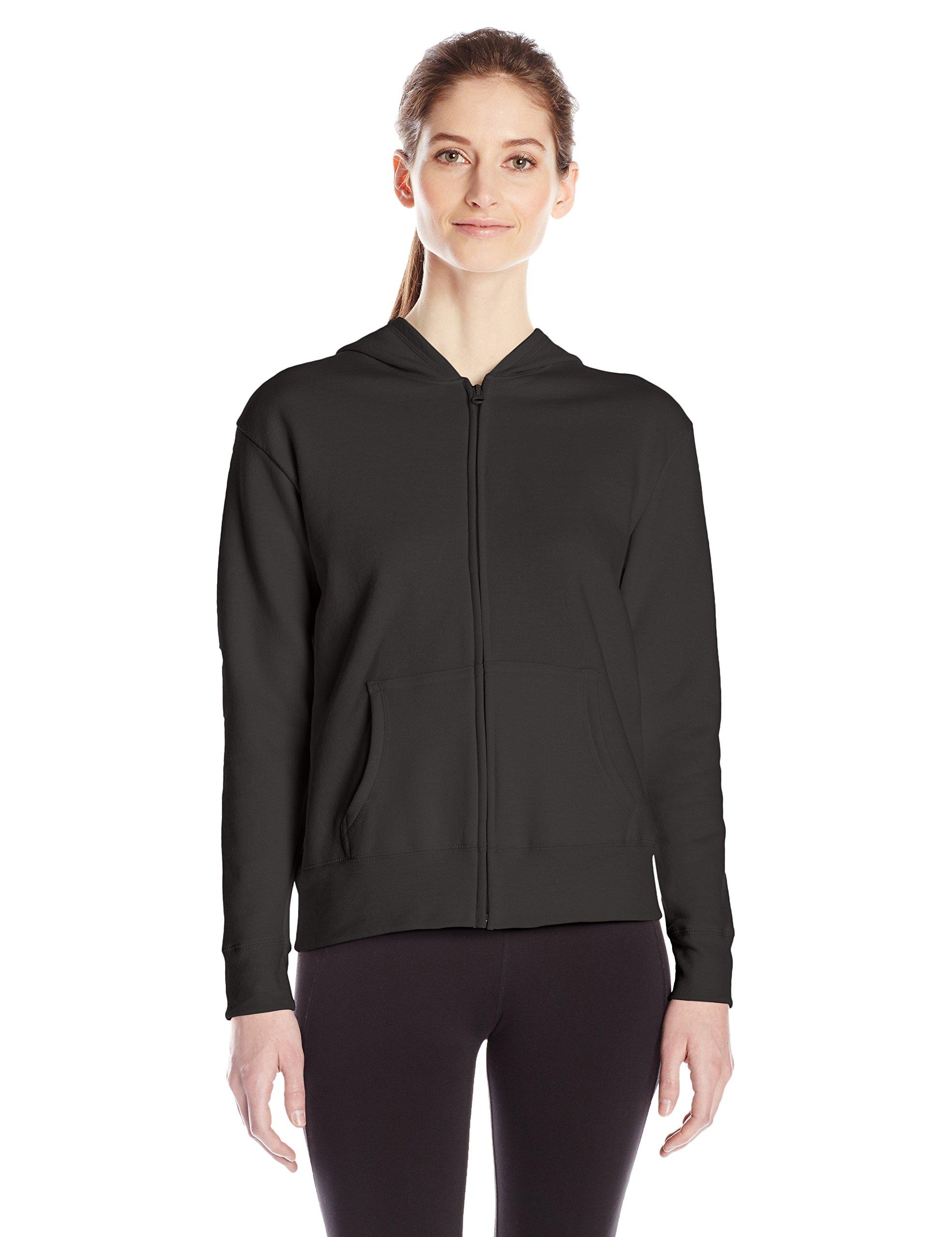 Hanes Women's Full Zip Hood, Ebony, x Large