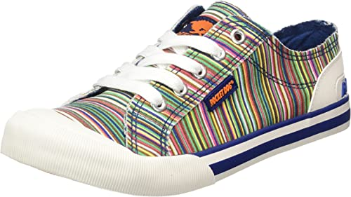 Rocket Dog Jazzin Swag Cotton Lace Up Pumps Plimsolls Flat Shoes Trainers