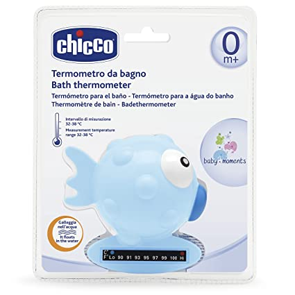 Chicco - Termómetro de baño forma pez, color azul