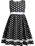 Amazon Price History for:Arshiner Girls Sleeveless Doll Collar Dress Vintage Polka Dot Swing Peter Pan Collar Dress with Belt