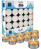 Hyoola Tea Lights Candles - 50 Bulk Candles Pack - Natural Palm Oil Tea Light - European Quality White Unscented…