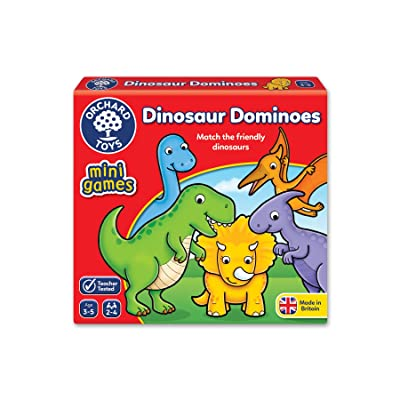 OR_CH Orchard Toys Dinosaur Dominoes Mini Game: Toys & Games